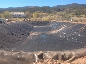 Stormwater retention pond liners