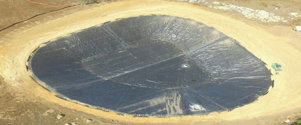 large geomembrane pond liners canal lining wel